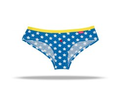 Unabux Hipster, blue with whiteen stars and yellow...