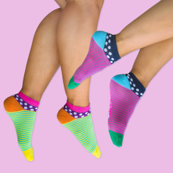 Unabux sneaker low cut socks double pack LIGHTSTRIPE,...