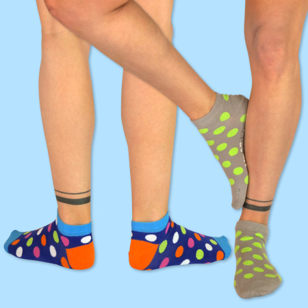 Unabux Sneaker Doppelpack CAPTAIN HEART, 2 pairs socks with multicolor copas and anclas